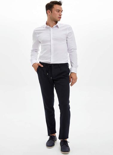 DeFacto Extra Slim Fit Uzun Kollu Gömlek Beyaz